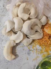 Вареники картошка и грибы. Фермерские ручная лепка. Хороший состав.